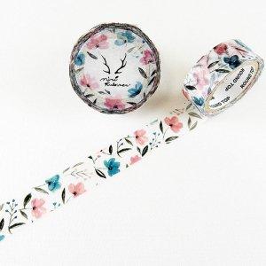 MiriKulo:rer(ミリクローレル) マスキングテープ flower3 ピンクとブルーの花
