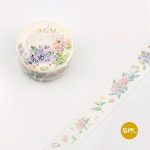 BGM マスキングテープ(アジサイ) あじさい紫陽花