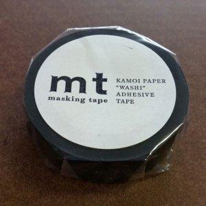 mtマスキングテープ1P  マットブラック 黒