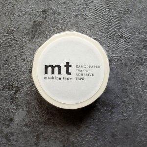 mtマスキングテープ1P  マットホワイト 白