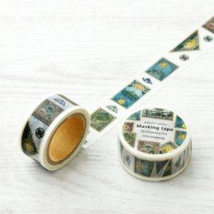 LINCHIANING マスキングテープ Antiquepostagestamp