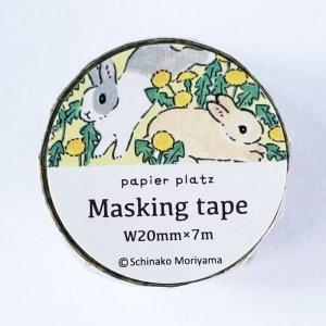 <img class='new_mark_img1' src='https://img.shop-pro.jp/img/new/icons13.gif' style='border:none;display:inline;margin:0px;padding:0px;width:auto;' />もりやましなこ  マスキングテープ タンポポとうさぎ 森山しなこ/Schinako
