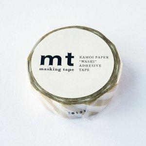 mtマスキングテープ1P   斜めストライプ・ゴールド金