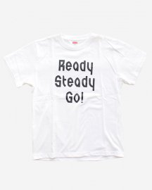Ready Steady Go! Standard Logo T-shirt White/Black