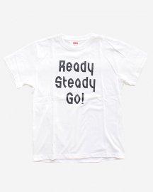 Ready Steady Go! Standard Logo T-shirt White/Navy