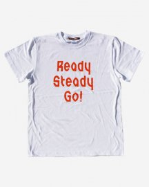 Ready Steady Go! Standard Logo T-shirt White/Orange