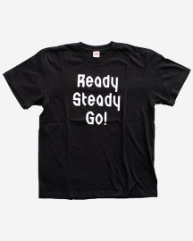 Ready Steady Go! Standard Logo T-shirt Black/White