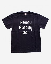 Ready Steady Go! Standard Logo T-shirt Navy/White