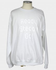 Ready Steady Go! Standard Logo Sweat-shirt  White/White