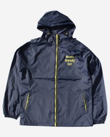 Ready Steady Go! Standard Nylon Hooded Jacket  Navy/Yellow
