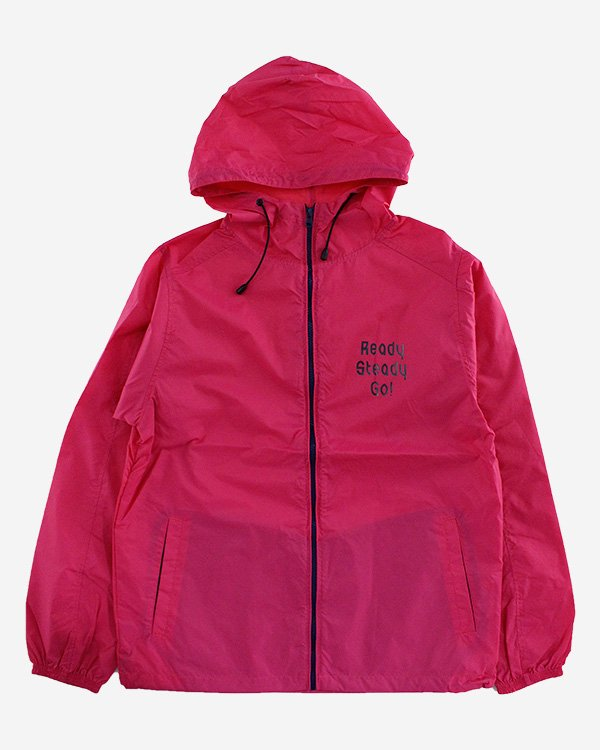 Ready Steady Go! Standard Nylon Hooded Jacket   Pink/Gray