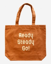 Ready Steady Go! Standard Logo Canvas tote bag Camel/Beige