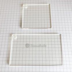 アクリルブロックA-004 【3mm厚 50x50 1個・50x80 1個】