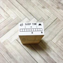 睡眠時間チェック SLEEP TIME メモリ付き