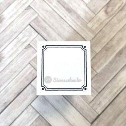 角飾り正方形枠