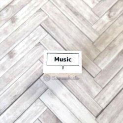 四角吹き出し Music