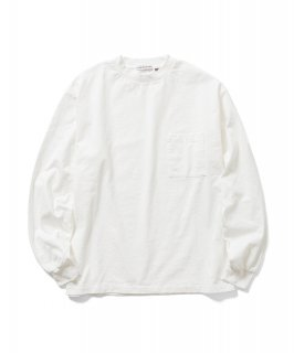 US Fabric POCKET L/S Tee (WHITE)