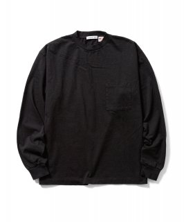 US Fabric POCKET L/S Tee (BLACK)