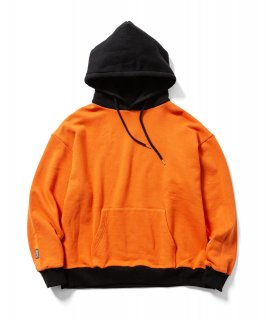 2TONE HOODIE (ORANGE×BLACK)
