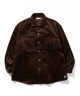 CORDS COACH SHIRTS JKT (BROWN)