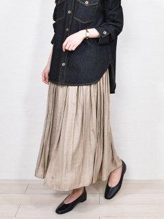 PARLMASEL (パールマシェール) サテン ミディ丈 スカート