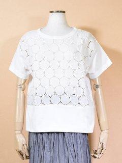 tumugu (ツムグ) 天竺×リネン レース Tシャツ