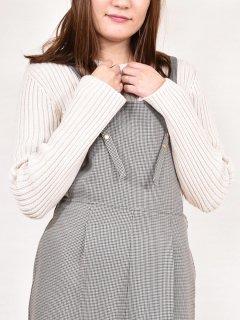 MARIED'OR (マリ—ドール) クルー ネック リブ袖 裾 スリット プルオーバー