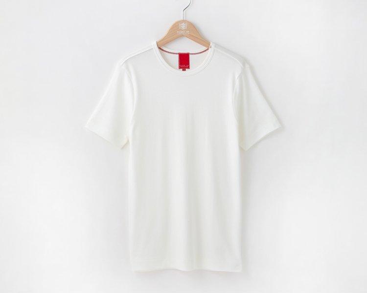 久米繊維謹製色丸首Tシャツ