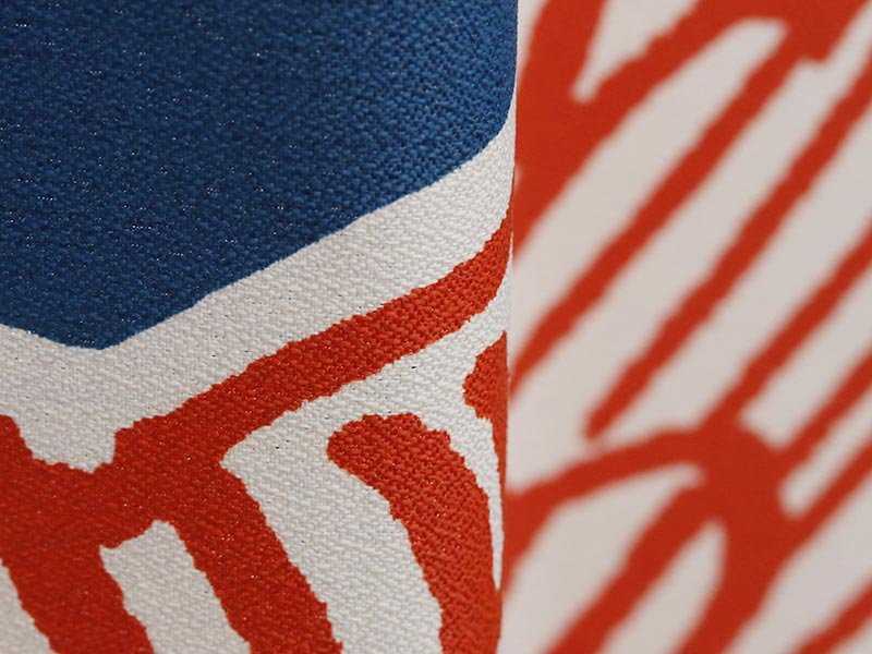 100サイズから選べる!お洒落な北欧デザインの大判花柄カーテン 『ノルディカ ブルー』