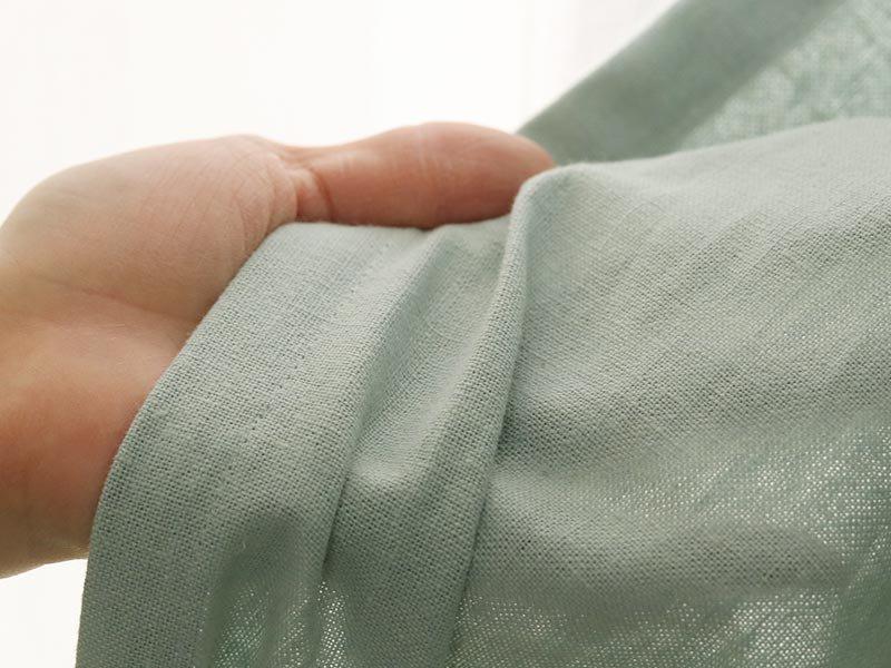 洗いざらしの風合いと、淡い色合いのシンプル無地カーテン『キラフ ブルー』