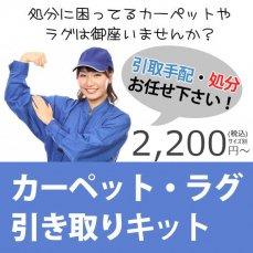 【送料込み】 カーペット・ラグ簡単引き取りキット