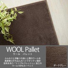 空気を洗うトリプルフレッシュ!ウール100%の100サイズカーペット【ウールパレット ダークグレー】