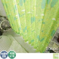 森をお散歩しよう♪森のイラストがお部屋を楽しくしてくれるドレープカーテン 『サンポ』