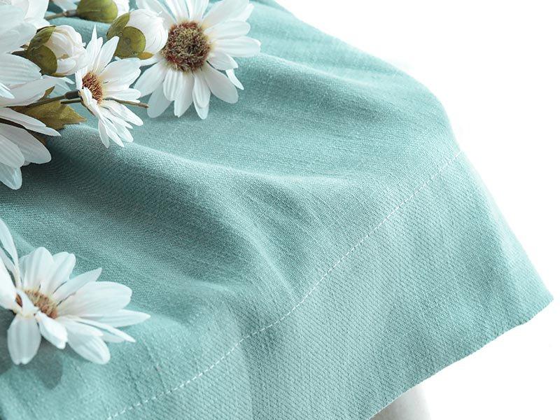 【フラット】天然素材リネン100%!10色から選べる無地カーテン 『ピュアリーネ セージ』