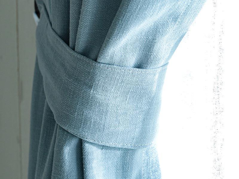 【フラット】天然素材リネン100%!10色から選べる無地カーテン 『ピュアリーネ ブルージュ』