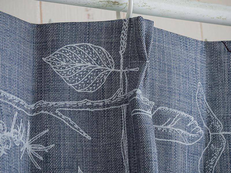 100サイズから選べる!ナチュラルな北欧デザインカーテン 『アフターザストーム ブルー』