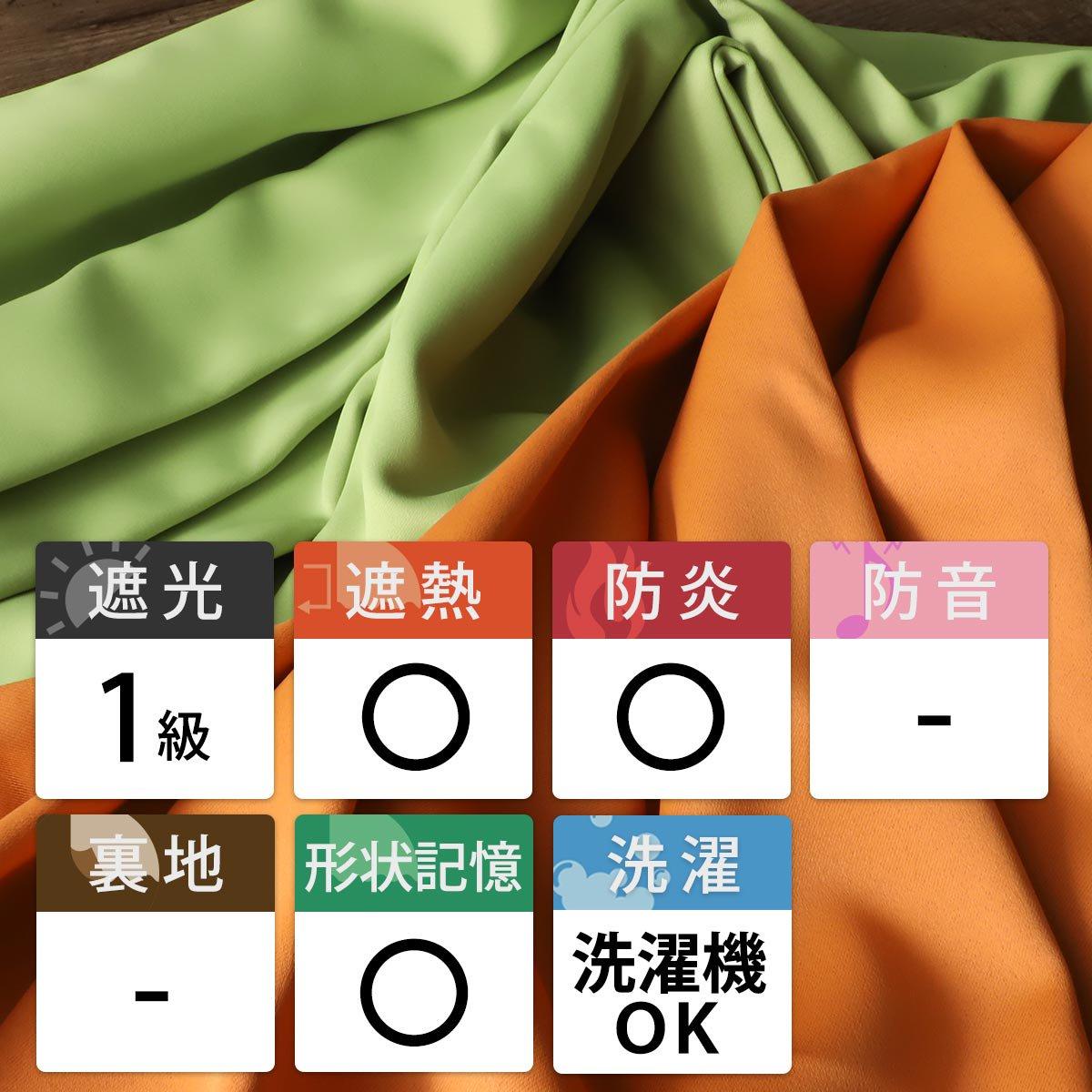 100サイズから選べる!1級遮光+防炎+遮熱+ウォッシャブル既製カーテン 『フローラ ピーコック』