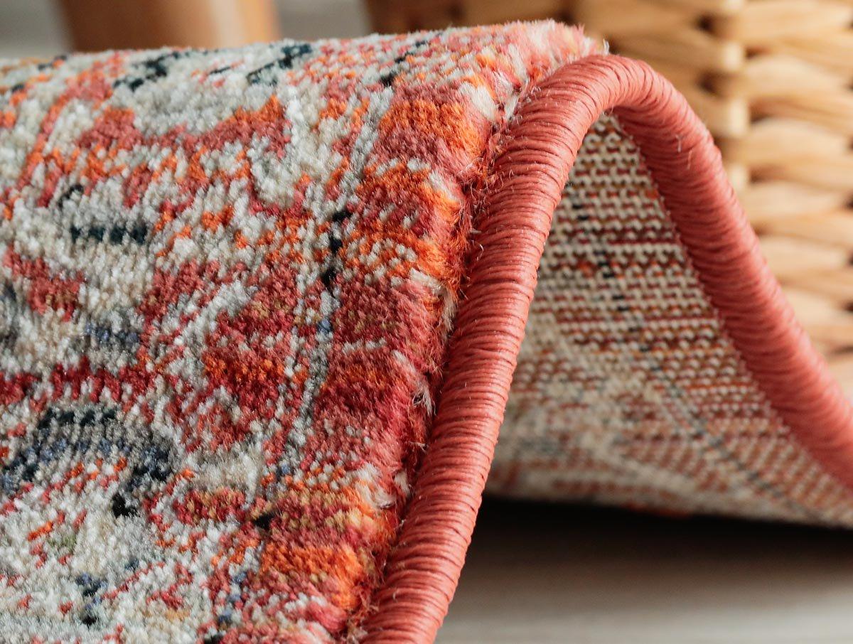 かすれたビンテージ調カラーが素敵!ベルギー製ウィルトン織玄関マット『ファーブラ ピンクグリーン』
