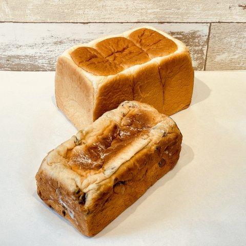 しっとり食パン&レーズンブレッド