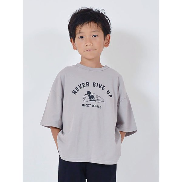 FOV(フォブ)|NEVER GIVE UP Tシャツ|グレーパープル|90〜170cm