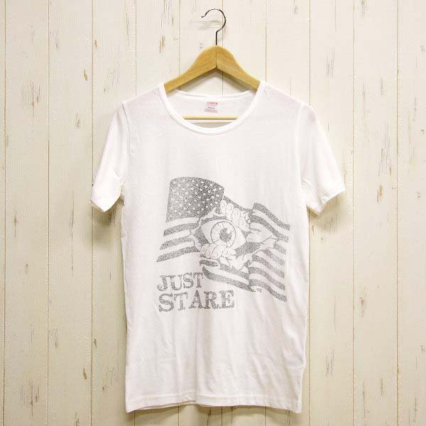 【OUTLET】 Just Stare Tシャツ|ホワイト|S-L|レディース&メンズ