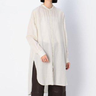 コットンビエラ バンドカラーロングシャツ 【LE GLAZIK】