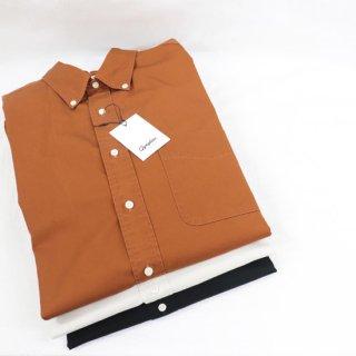 【Import Fair 15%OFF】MENS コットンツイル長袖ビッグボタンダウンシャツ【Gymplex】