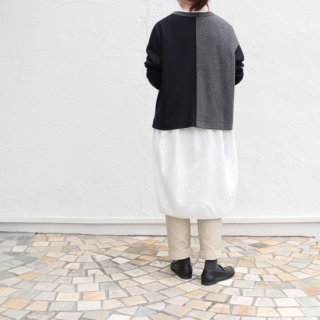 Washable wool Crew top wide【FABRIQUE en planete terre】