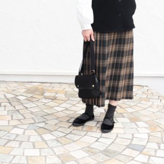 """Hanna""Wool Tartan Pleated Skirt 【Sarahwear】"