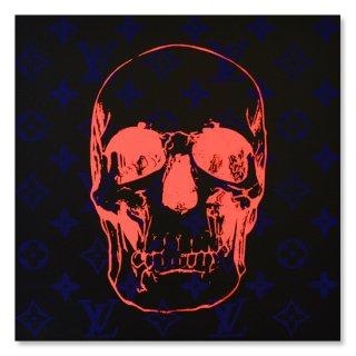 Blue Velvet Skull