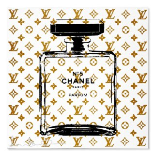 Gold Glitter Chanel White - Silk Screen [ Exclusive ] -