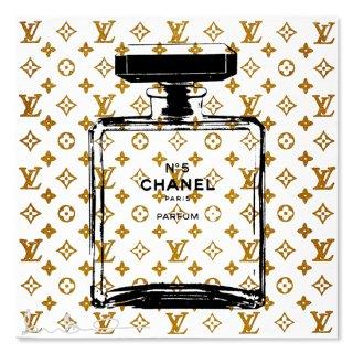 Gold Glitter Chanel White - Silk Screen [ Exclusive ] -