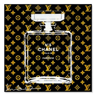 Gold Glitter Chanel BK - Silk Screen [ Exclusive ] -