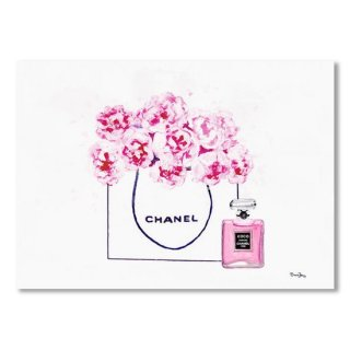 Chanel Bag With Pink Peonys